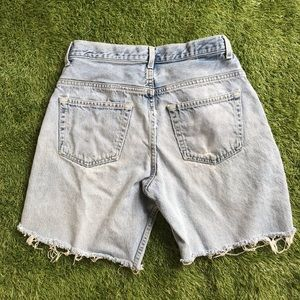 vintage gap distressed cut off jean shorts